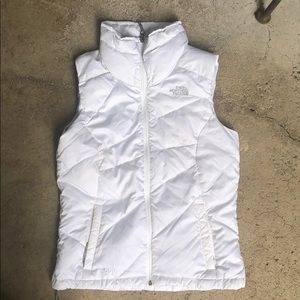 The North Face white Puffer Outer Vest down fill S
